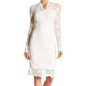 LONG SLEEVE SEQUENCE LACE DRESS